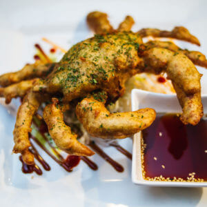 Softshell crab appetizer