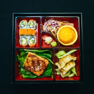 Salmon lunch bento box