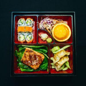 Salmon lunch bento box