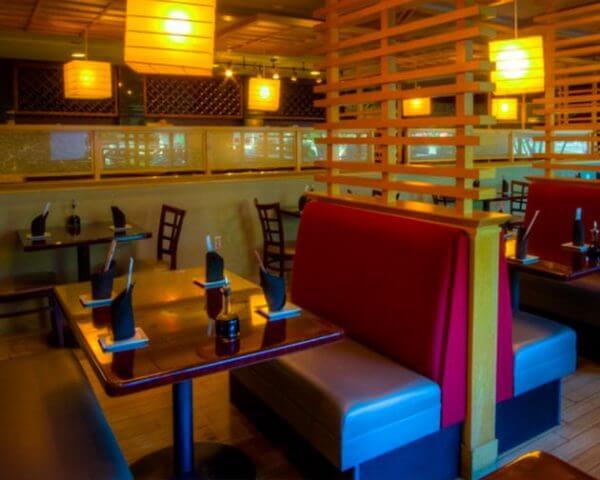 Inside Sushihana Japanese Restaurant
